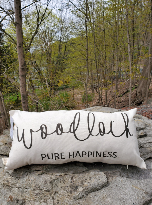 """""""Woodloch Pure Happiness"""" Pillow"""