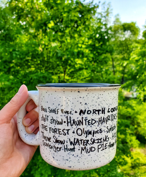 Camp Mug w. Gigi Wall Art Design