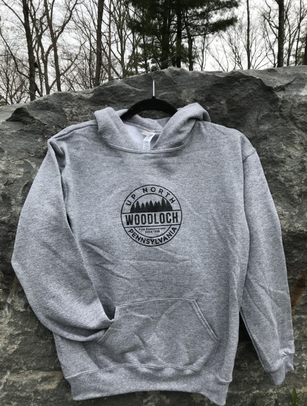 "Jerzees NuBlend Youth ""Up North"" Hooded Sweatshirt - Oxford Gray"
