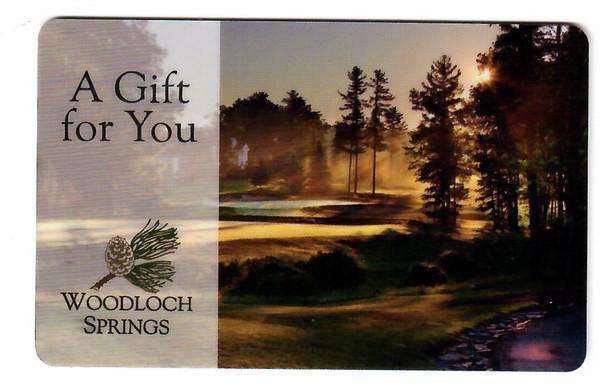 Woodloch Springs Golf Gift Card - $100