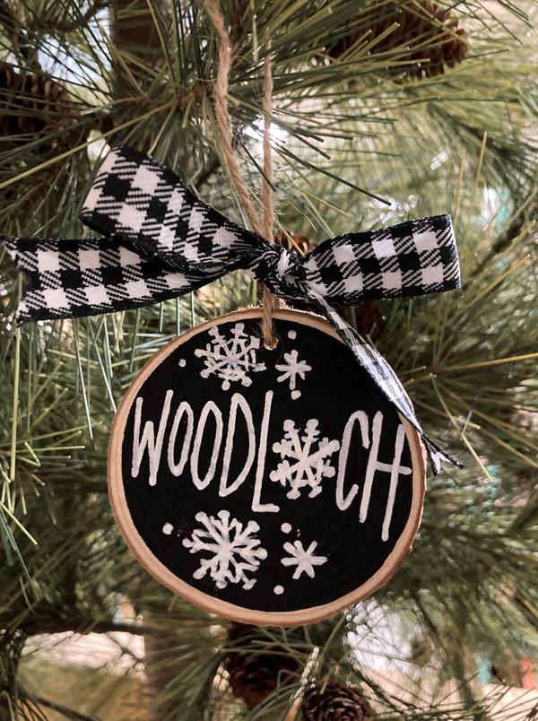 Ornament - Woodloch + Snowflakes