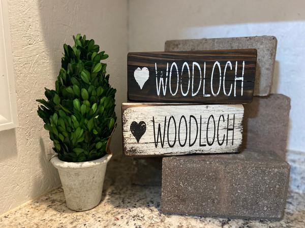 Heart Woodloch Wooden Black