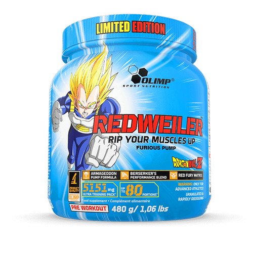 Dragon Ball Z Redwiler Pre-workout 80 Standard Serves
