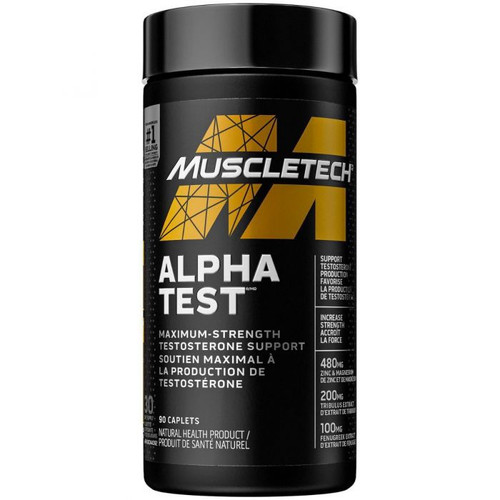 Muscletech AlphaTest 120 Rapid Release Bio Capsules - New Series