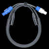 Accu Cable 3 Ft, 3-Pin XLR DMX & Powercon Power Link Cable / AC3PPCON3