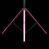 ADJ LTS Color T-Bar Stand w/ LED Lighting