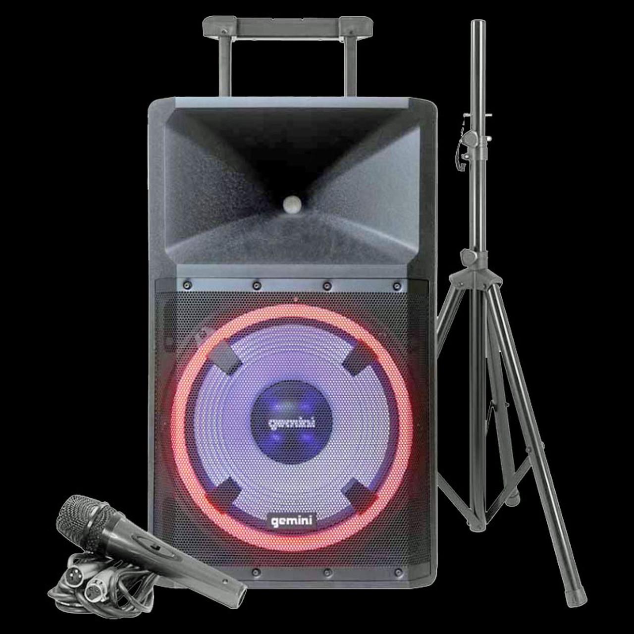 Gemini GSP-L2200PK Powered Speaker w/ LED Lights / Media Player / Bluetooth