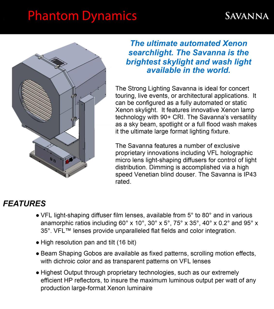 Savanna Xenon Skybeam Searchlights