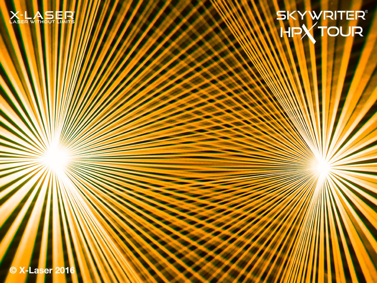 X-Laser Skywriter HPX MF-5 RGB Laser Projector w/ Mercury + FB4