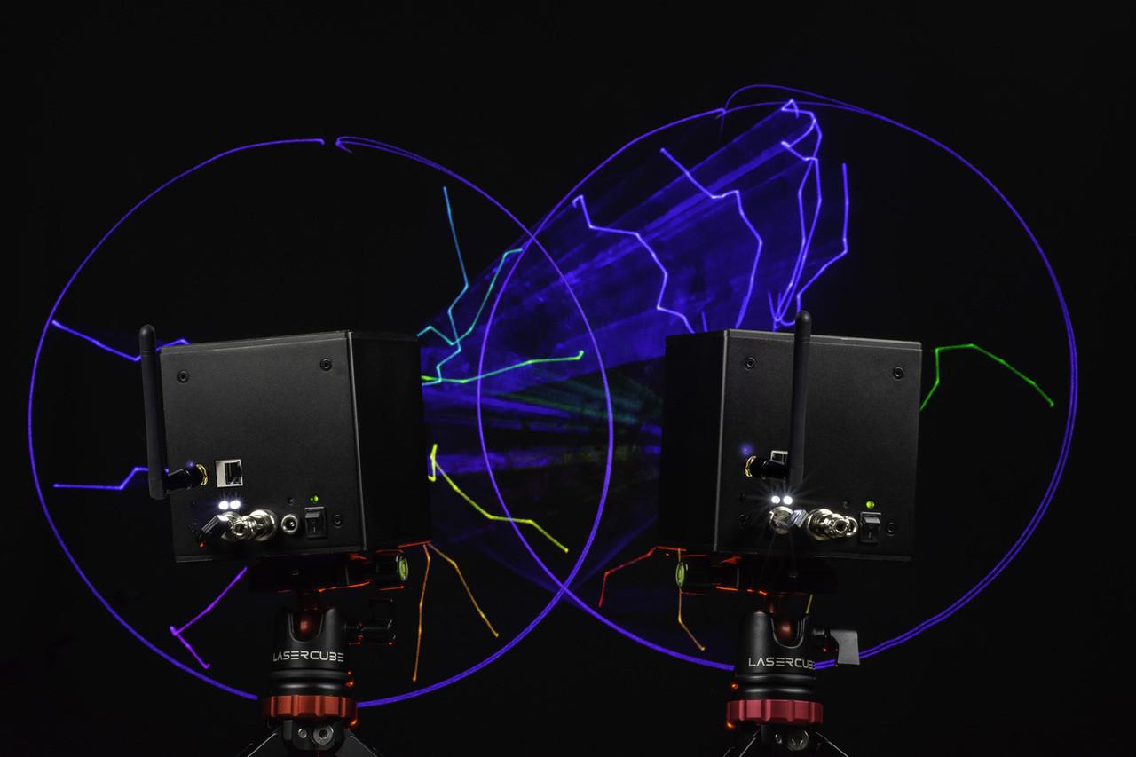 Wicked Lasers LASERCUBE 2.5 WIFI DJX Laser Light Show Projector