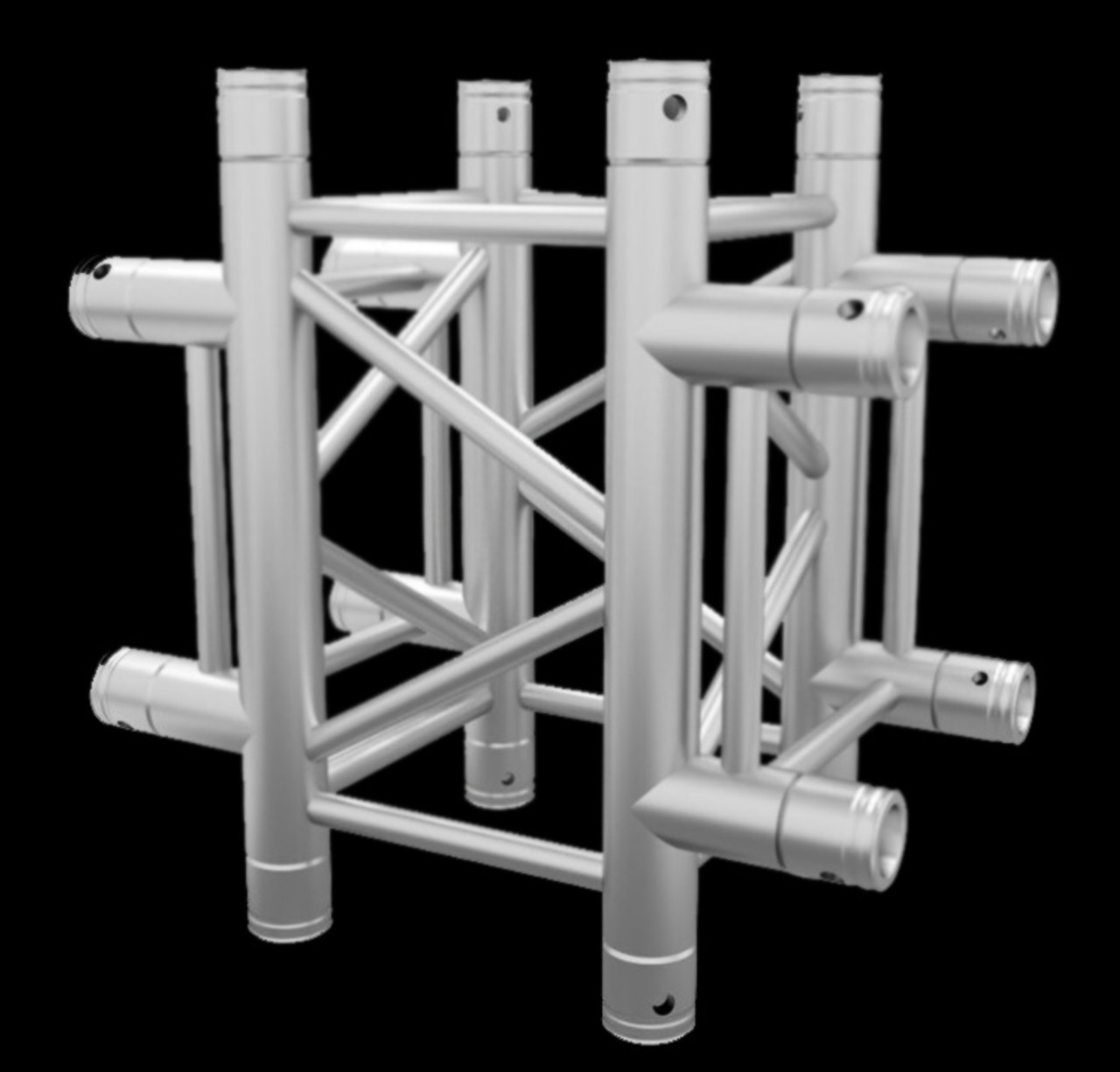 "Global Truss F34 12"" Square 4 Way Cross Junction / 1.64ft (0.5m)"