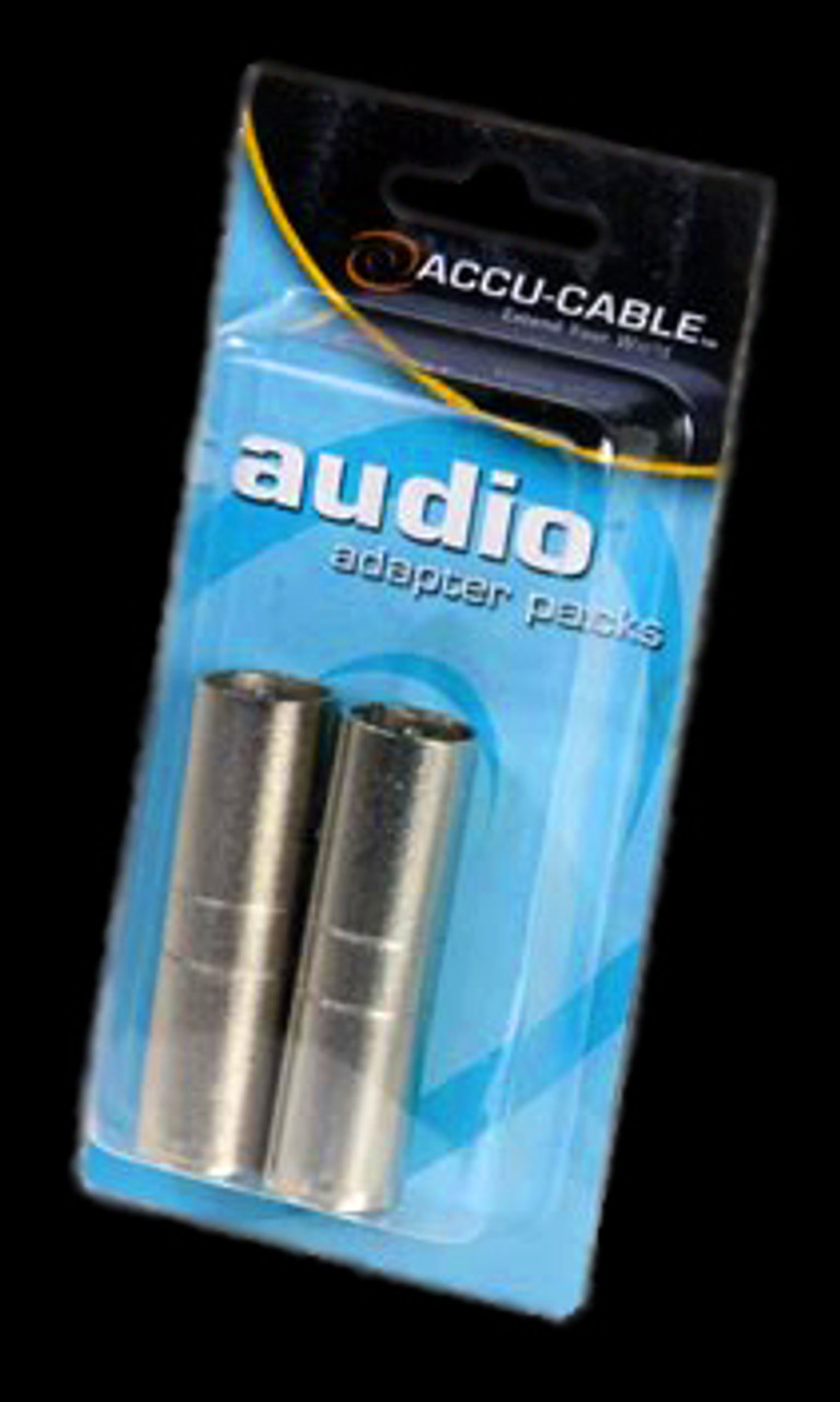Accu Cable Male 3 Pin XLR to Male 3 Pin XLR Adapter / AXLRC3PMM