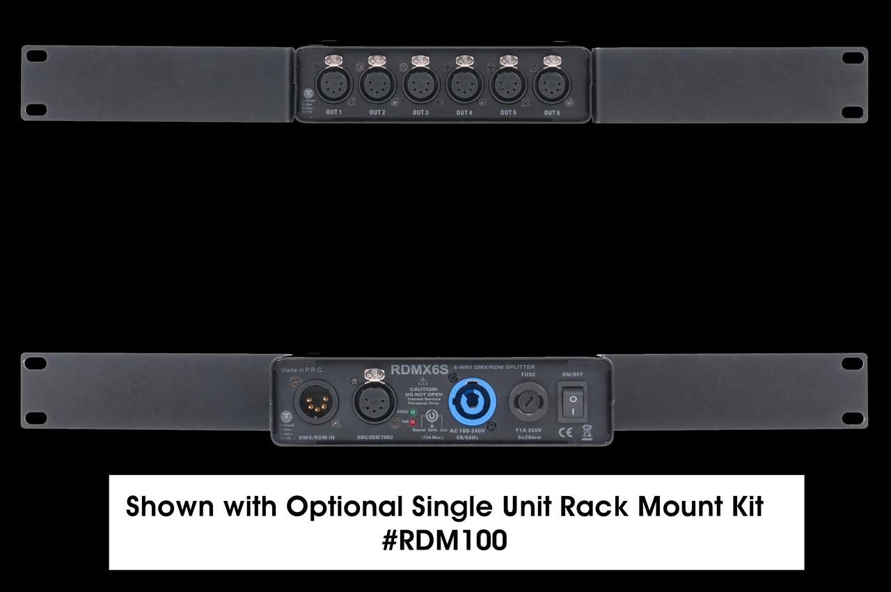 Elation 6-way RDM / DMX Data Splitter w/ 5pin XLR