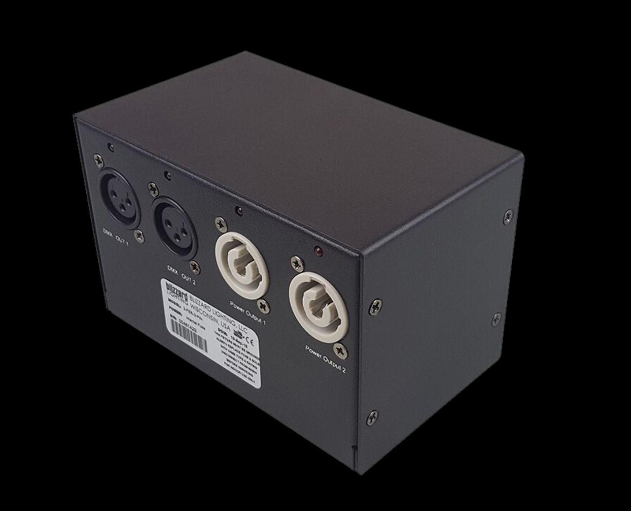 Blizzard Lighting 2-Fer / 2-way Power Splitter + 2-way DMX Splitter