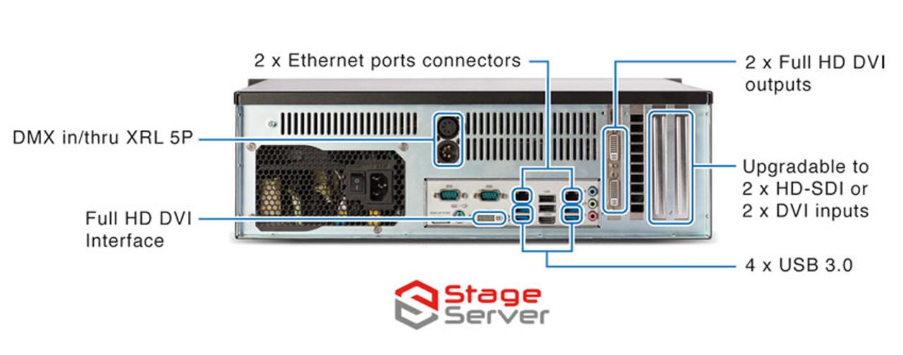 ArKaos PRO Server Express Media Server - 2 Output w/ MMExpress