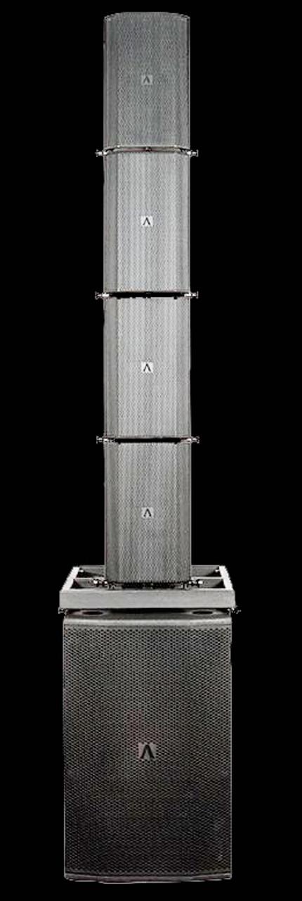 Avante Bleacher Stack Rig / 4 Box Flown Array w/ Ground Subs