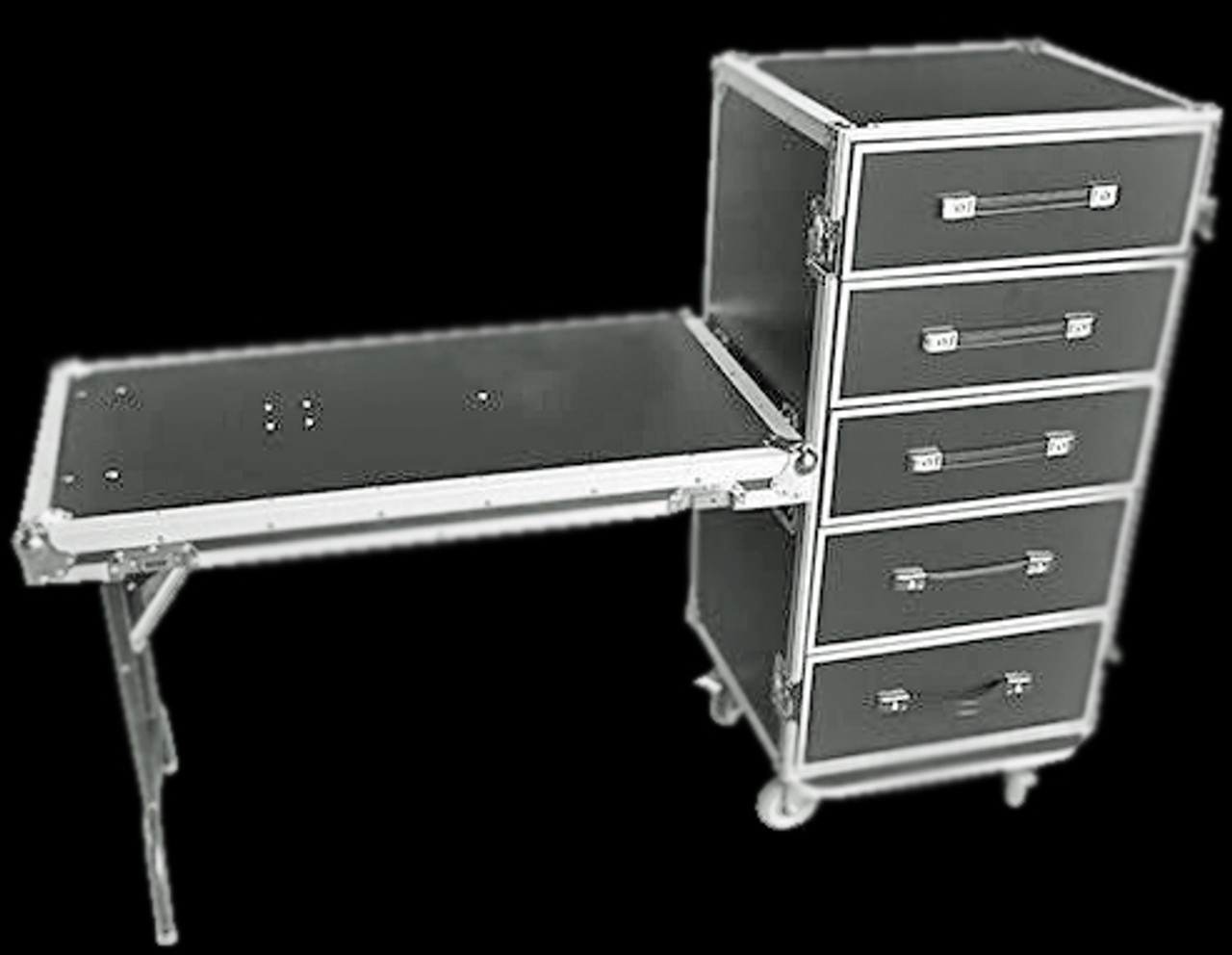 Fabulous Omnisistem 5 Drawer Flight Case W Workbench Folding Table Beatyapartments Chair Design Images Beatyapartmentscom