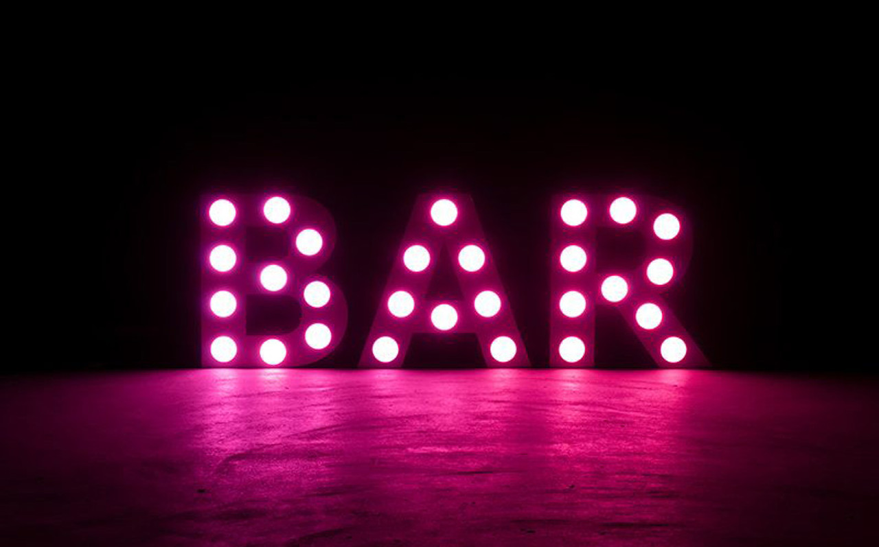 Eliminator Decor BAR Mini 24 Inch Tall White LED letters