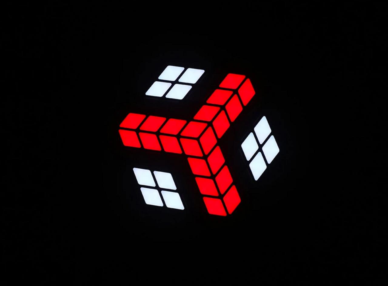 Blizzard Lighting Squarodox 3D Cube LED Effect Panel Display