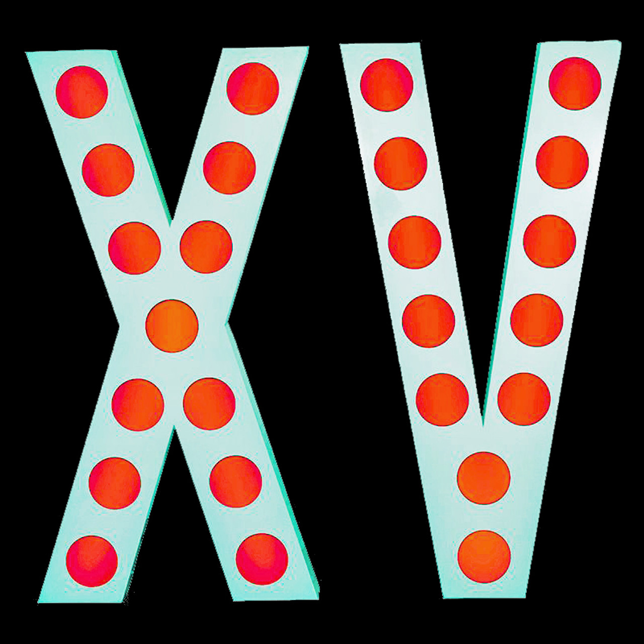 Eliminator Lighting Decor XV White Letters w/ LED Circle