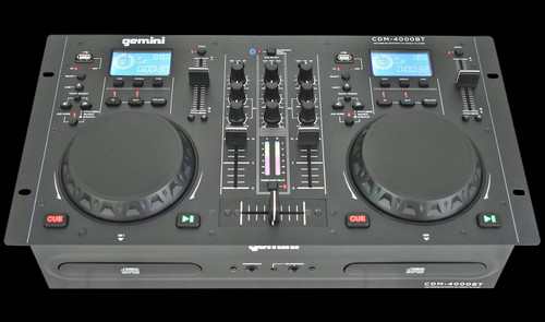 Gemini CDM 4000BT 2 Channel Professional Dual MP3/CD/USD USB Mixer w/ Bluetooth