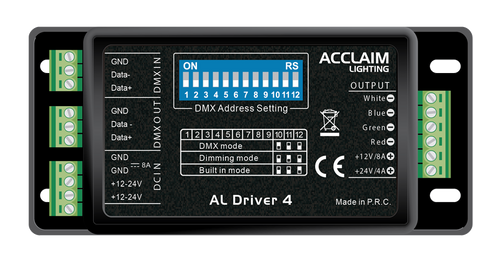Acclaim AL Driver 4 Four-Channel PWM Dimming Driver / Low Voltage