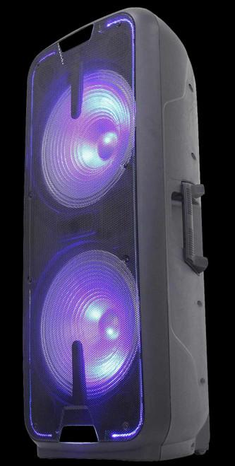 """Gemini Dual 15"""" Dynamic Woofer LED Light / BT / Rechargeable / GSX-L2515BTB"""