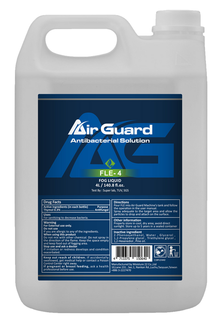 Air Guard Anti-Bacterial Solution / COVID 19 Zirucidal Active