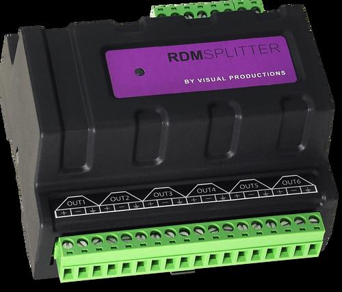 Visual Productions RDM Splitter DIN Rail Mounted DMX+RDM Splitter / Booster