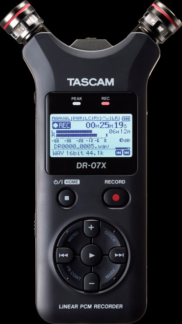 TASCAM DR-07X Stereo Handheld Digital Audio Recorder / USB Audio Interface