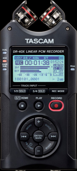 TASCAM DR-40X Four Track Digital Audio Recorder / USB Audio Interface