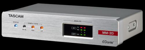 TASCAM MM-2D-X 2-Channel Mic/Line Input/Output Dante Converter w/ built-in DSP Mixer