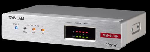 TASCAM MM-4D/IN-E 4-Channel Mic / Line Input Dante Converter w/ built-in DSP Mixer
