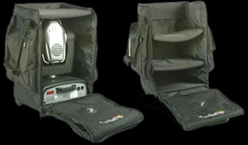 Arriba Moving Head Style Bag Lighting Transfer Case w/ Wheels