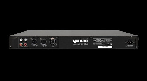 "Gemini CDMP-1500 / 19"" 1U Rackmount Single Media Player"