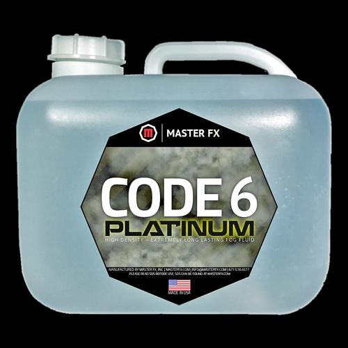 Master FX Code 6 Platinum High Density Long Lasting Fog Fluid