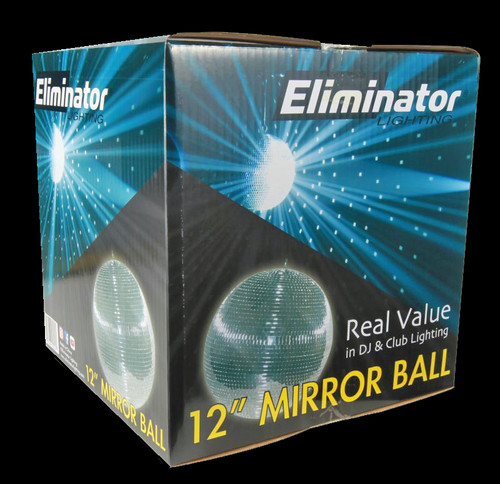 "Eliminator Lighting 12"" Mirror Disco Ball / EM12"