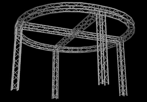 "Global Truss 12"" Box Truss 12'x12' Circular Trade Booth Truss System"