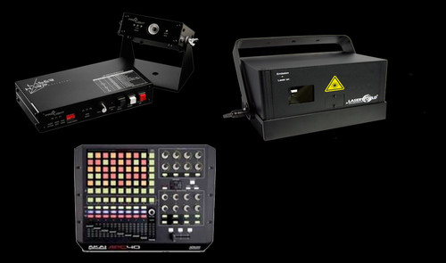 Laser Harp System w/ Laserworld DS-1800RGB or DS-3300RGB Laser Projector