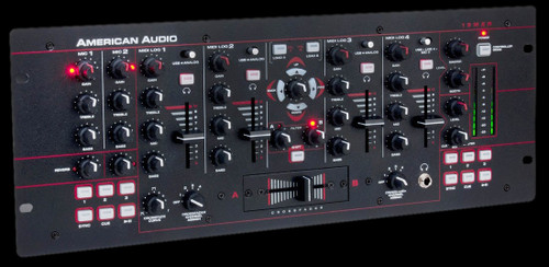 American Audio 19MXR 4-Channel MIDI DJ Audio Mixer