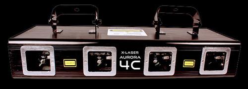 X-Laser Aurora 4C GRBM Quad Full Color Liquid Sky Laser