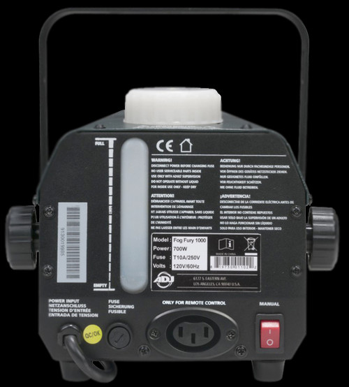 ADJ Fog Fury 1000 II Professional DJ Fog Machine