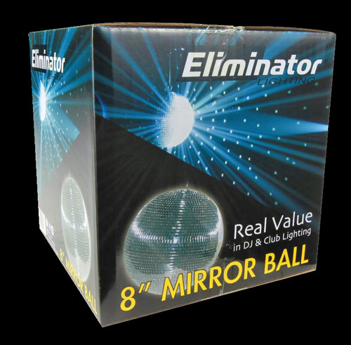 "Eliminator Lighting 8"" Disco Mirror Ball / EM8"