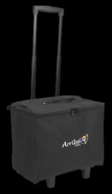 Arriba ACR-16 Stackable Rolling Padded DJ Equipment Bag w/ Handle