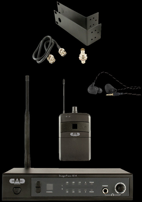 CAD StagePass IEM Stereo Wireless In-Ear Monitor System w/ Earbuds