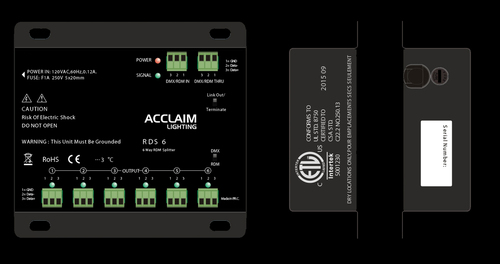 Acclaim RDS6 6 Way RDM / DMX Splitter