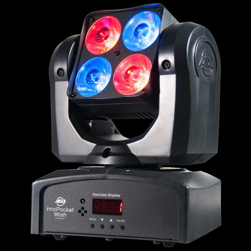 ADJ Pocket Wash Pak Quad LED DJ Moving Head Lighting Package