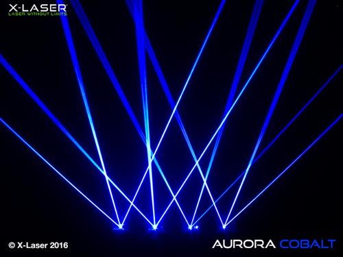X-Laser Aurora Cobalt Blue Beam Liquid Sky Laser