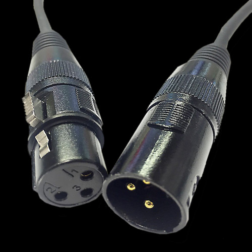 Accu-Cable 3-foot, 3-pin Male to Female DMX Cable / AC3PDMX3