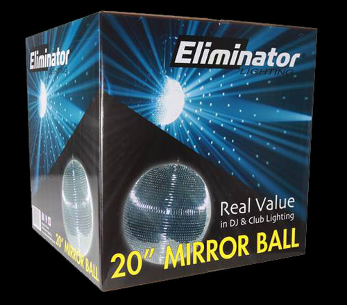 "Eliminator Lighting 20"" Mirror Disco Ball / EM20"